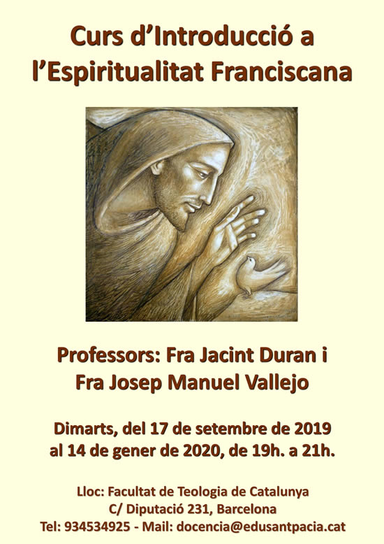 CartellEspiritualitat Franciscana